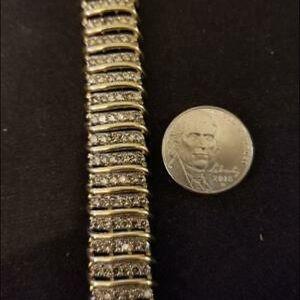 Jewelry - Lady's Diamond Tennis Bracelet in 10k Yellow Gold